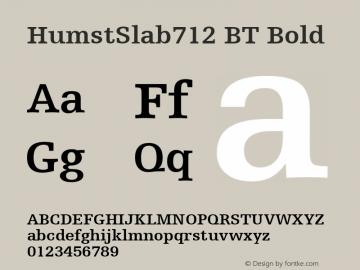 HumstSlab712 BT Bold mfgpctt-v1.57 Monday, February 22, 1993 4:11:50 pm (EST) Font Sample