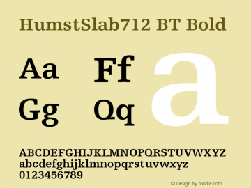 HumstSlab712 BT Bold mfgpctt-v1.57 Monday, February 22, 1993 4:11:50 pm (EST) Font Sample