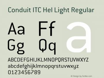 Conduit ITC Hel Light Regular Version 2.101;PS 002.001;Core 1.0.38图片样张