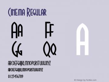 Cinema Regular Macromedia Fontographer 4.1.5 4/1/97图片样张