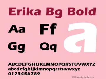 Erika Bg Bold Version 1.000;PS 001.001;hotconv 1.0.38 Font Sample