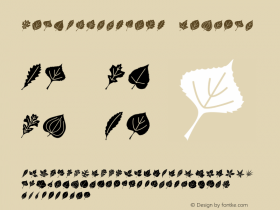 LeafAssortment Regular Version 1.00 Font Sample