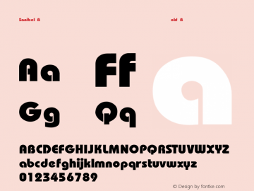 Sanibel Bold Bold Unknown Font Sample