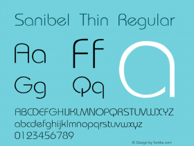 Sanibel Thin Regular Unknown Font Sample