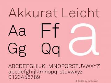 Akkurat Font,Akkurat Leicht Font,Akkurat-Leicht Font|Akkurat