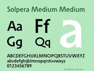 Solpera Medium Medium 001.000图片样张