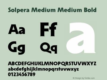 Solpera Medium Medium Bold 001.000图片样张