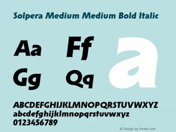 Solpera Medium Medium Bold Italic 001.000图片样张