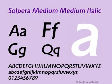 Solpera Medium Medium Italic 001.000图片样张