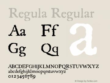 Regula Regular 001.000 Font Sample