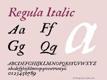 Regula Italic 001.000 Font Sample