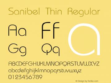 Sanibel Thin Regular Unknown Font Sample