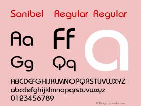 Sanibel  Regular Regular Unknown Font Sample