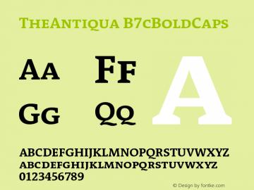 TheAntiqua B7cBoldCaps Version 001.000 Font Sample