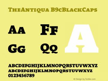 TheAntiqua B9cBlackCaps Version 001.000 Font Sample