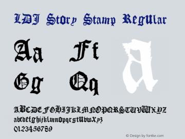 LDJ Story Stamp Regular Macromedia Fontographer 4.1 9/9/2005图片样张