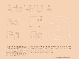 Arial-HU A 1.000 Font Sample