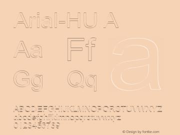 Arial-HU A 1.000图片样张