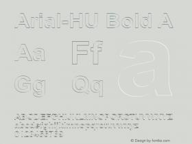 Arial-HU Bold A 1.000 Font Sample