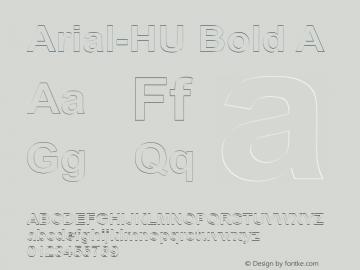 Arial-HU Bold A 1.000图片样张