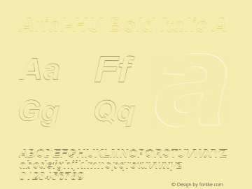 Arial-HU Bold Italic A 1.000图片样张