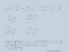Arial-HU Italic A 1.000 Font Sample