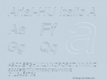 Arial-HU Italic A 1.000图片样张