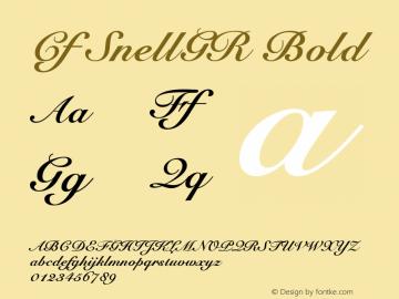 Cf SnellGR Bold Macromedia Fontographer 4.1.5 19‐01‐99图片样张