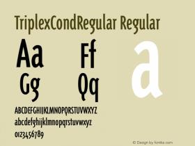 TriplexCondRegular Regular 001.000 Font Sample