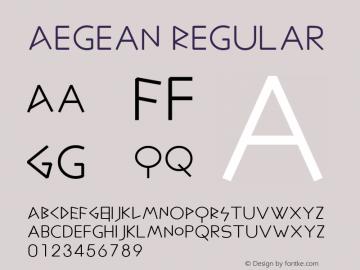 Aegean Regular Version 1.01图片样张