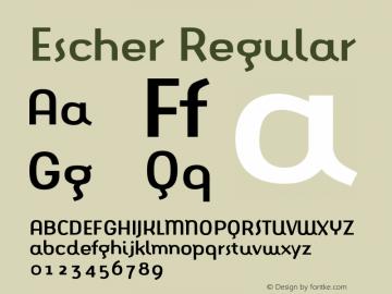 Escher Regular 001.000 Font Sample