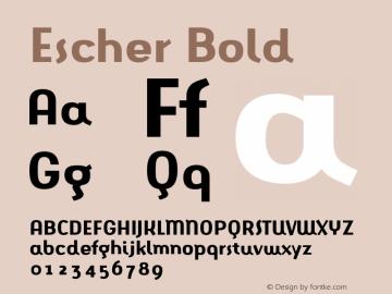 Escher Bold 001.000 Font Sample