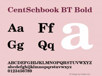 CentSchbook BT Bold mfgpctt-v1.52 Tuesday, January 12, 1993 3:07:01 pm (EST) Font Sample