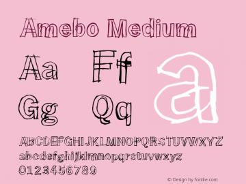 Amebo Medium Version 001.000图片样张
