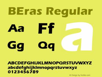BEras Regular Version 4.00 April 15, 2007 Font Sample