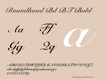 roundhand bt bold font