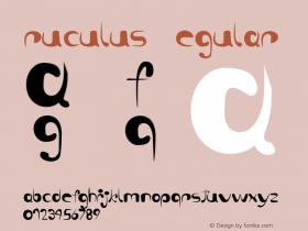 ruculus Regular Version 1.1 Font Sample
