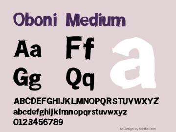 Oboni Medium Version 001.000图片样张
