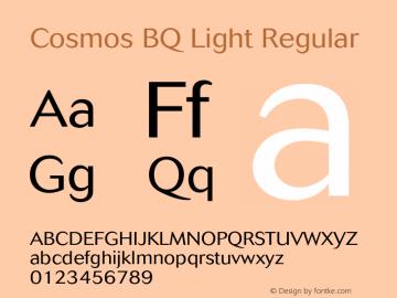 Cosmos BQ Light Regular Version 001.000;Core 1.0.01;otf.5.02.2298;18.07W Font Sample