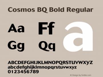 Cosmos BQ Bold Regular Version 001.000;Core 1.0.01;otf.5.02.2298;18.07W Font Sample