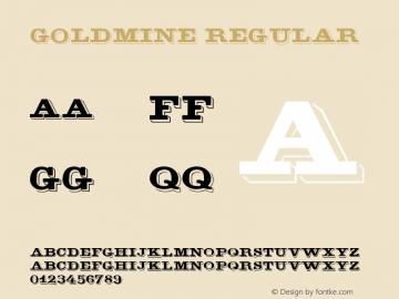 GoldMine Regular Unknown Font Sample