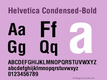 Helvetica Condensed-Bold Version 002.000 Font Sample
