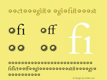 Incognito Ligatures 001.000 Font Sample