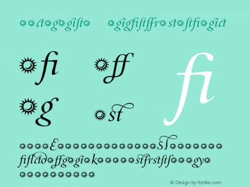 Incognito LigaturesItalic 001.000 Font Sample