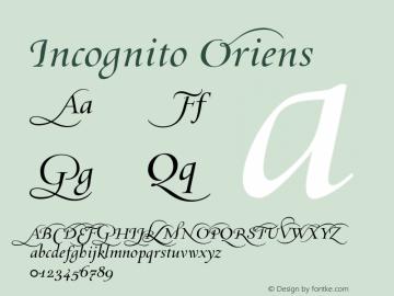 Incognito Oriens 001.000 Font Sample