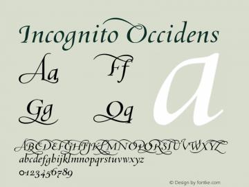 Incognito Occidens 001.000 Font Sample