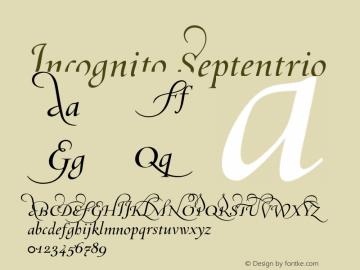 Incognito Septentrio 001.000 Font Sample