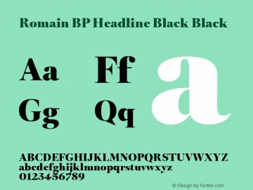 Romain BP Headline Black Font,RomainBPHeadlineBlack Font