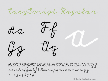 EasyScript Regular 001.000 Font Sample