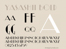 Yasashii Bold Version 1.000 2007 initial release Font Sample